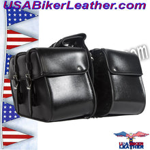PVC Motorcycle Saddlebags / SKU USA-SD4079PV-DL - USA Biker Leather - 1