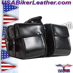 PVC Motorcycle Saddlebags / SKU USA-SD4079PV-DL - USA Biker Leather