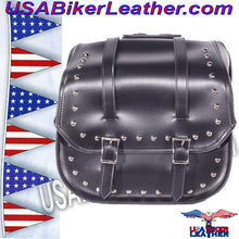 PVC Motorcycle Saddlebags with Studs / SKU USA-SD4080-DL - USA Biker Leather - 3