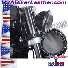 Round Motorcycle Tool Fork Bag / SKU USA-TB3007-10-DL - USA Biker Leather - 2