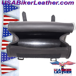 Round Motorcycle Tool Fork Bag / SKU USA-TB3007-10-DL - USA Biker Leather - 4