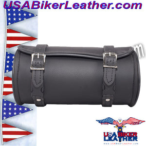 Round Motorcycle Tool Fork Bag / SKU USA-TB3007-10-DL - USA Biker Leather - 5