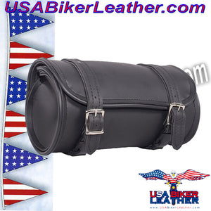 Round Motorcycle Tool Fork Bag / SKU USA-TB3007-10-DL - USA Biker Leather - 1