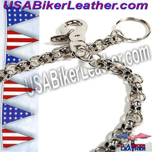Chain with Skulls, Great Addition to your Wallet / SKU USA-WTC8-DL - USA Biker Leather - 2
