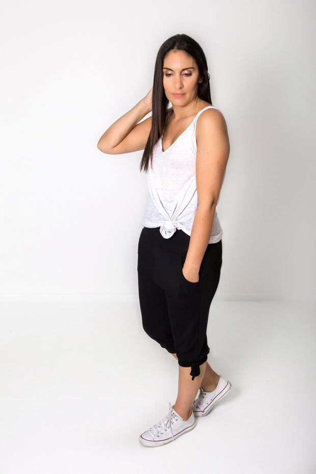 Photo of model wearing NOOZ 3/4 Lounge Pants With Tie