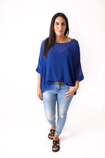 Cobalt Draped Tops - Essential Collection