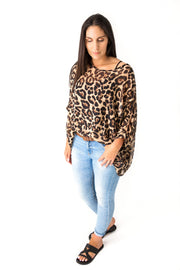 Animal Print Draped Top - Wild Collection