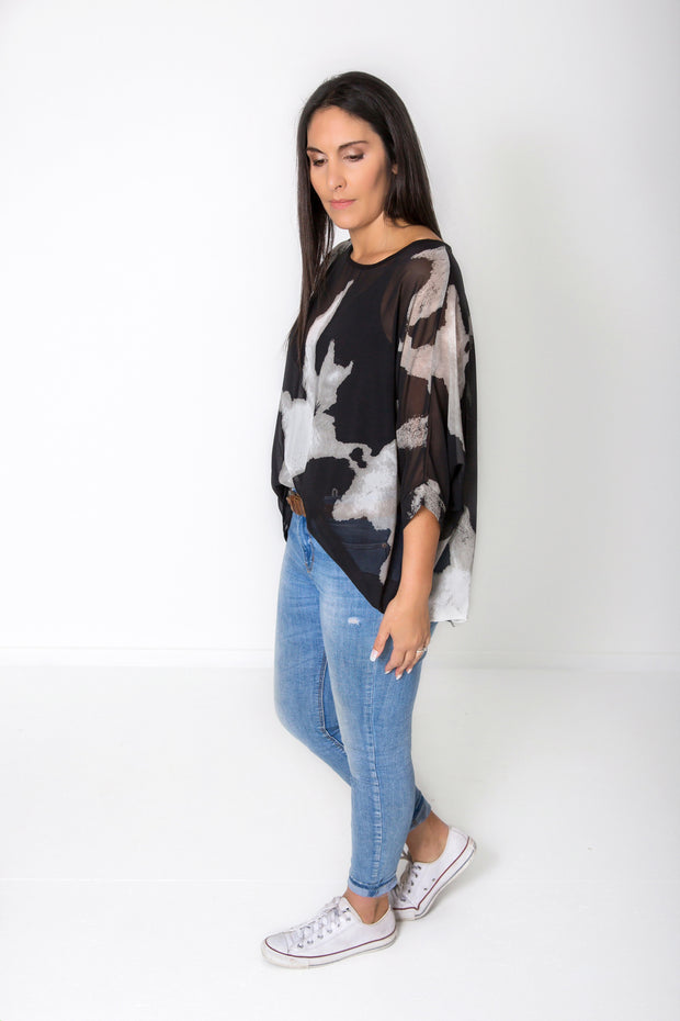 PRE-ORDER** Cowmoo Draped Tops - Wild Collection