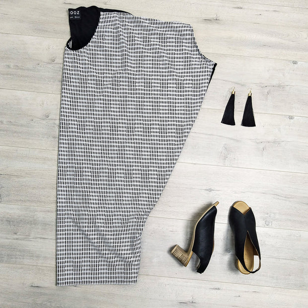 W/B Lines Crossed Draped Dress