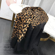 Contrast Dark Animal Print Scarf