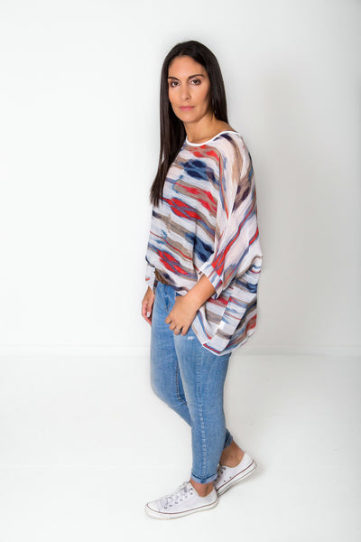 WRB Stripes Draped Tops - Colourpop Collection