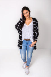 Striped Batwing Shrug