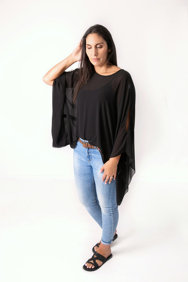 Butterfly Top -  Black