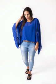 Butterfly Top - Cobalt