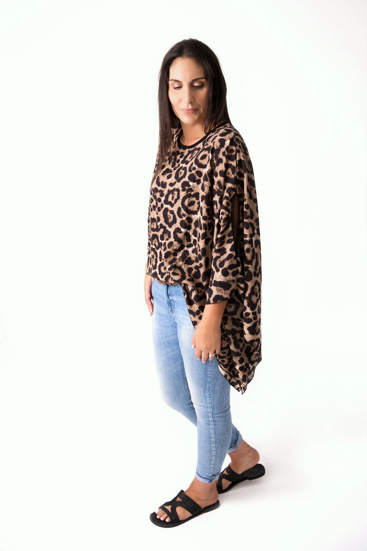 Animal Print Butterfly Top
