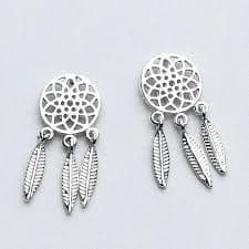 Stirling Silver Dreamcatcher Studs