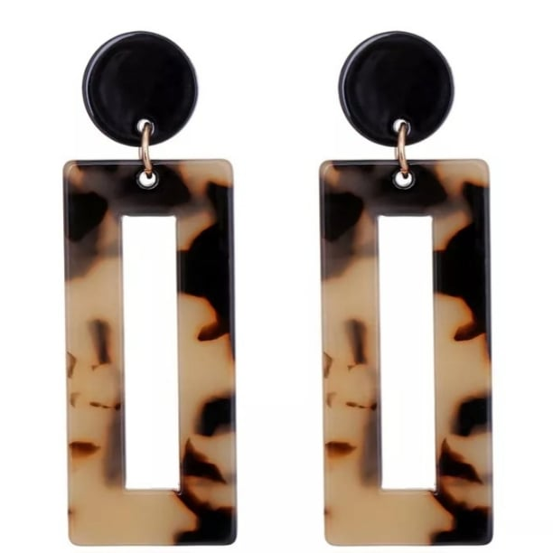 Geo Tortoise Shell Earrings