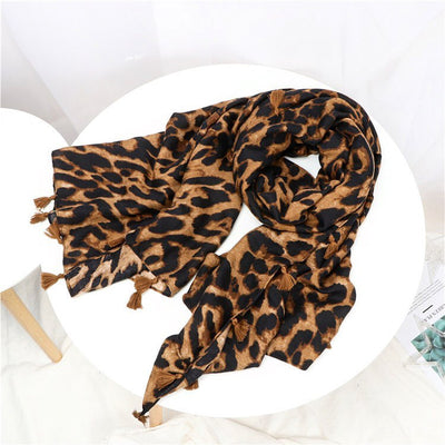 Dark Animal Print Scarf