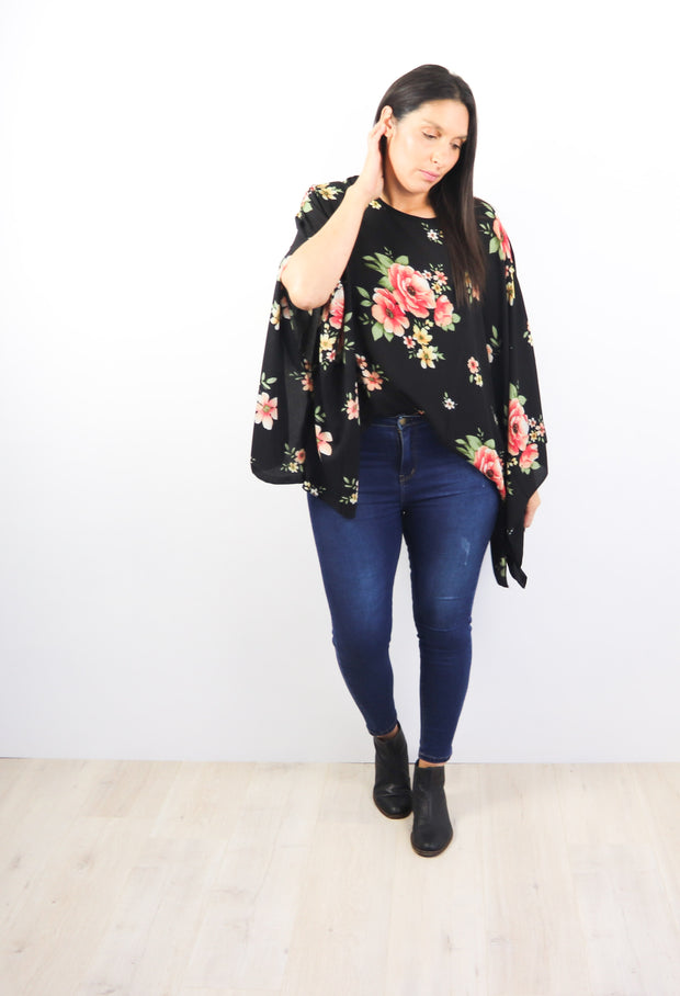 Butterfly Top - Sweet Avondale Floral
