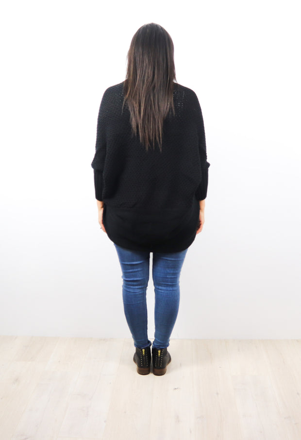 Black Colourpop Batwing Cardigan
