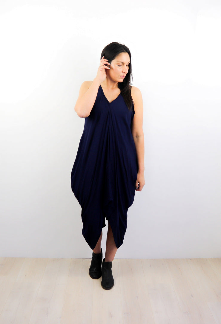 Oversized Pocket Dress - Navy