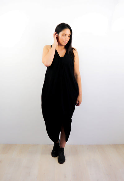 Oversized Pocket Dress - Black