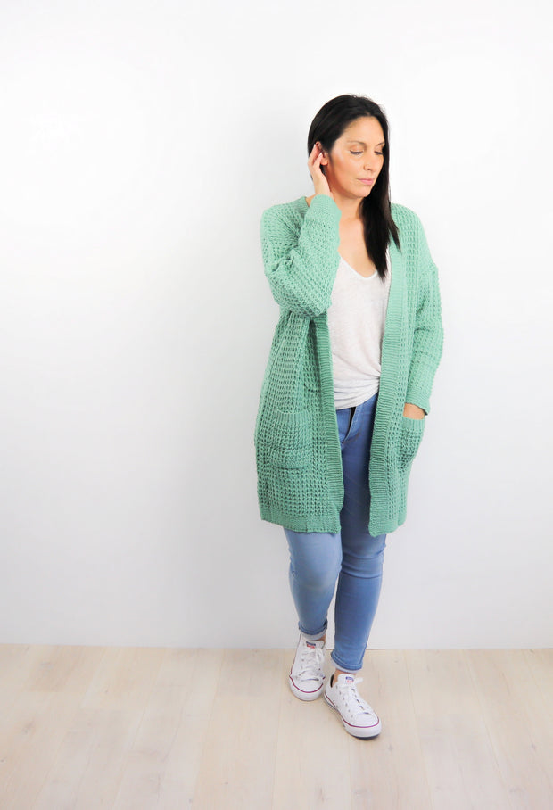 Pistachio Willow Knit Cardigan