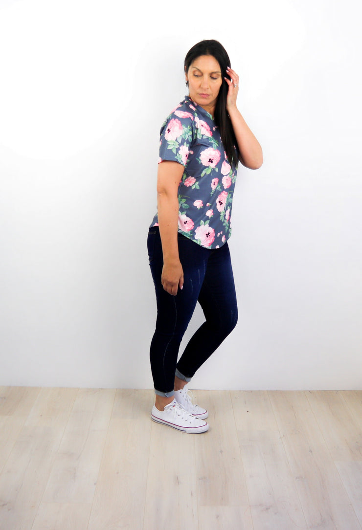 Washed Floral Briar Tee