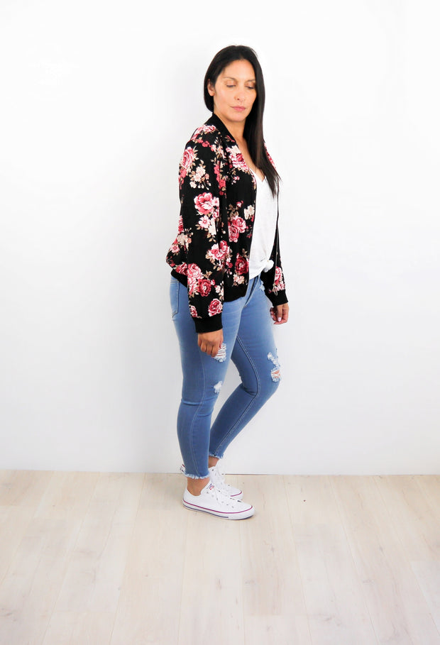 Savannah Floral Zip Up
