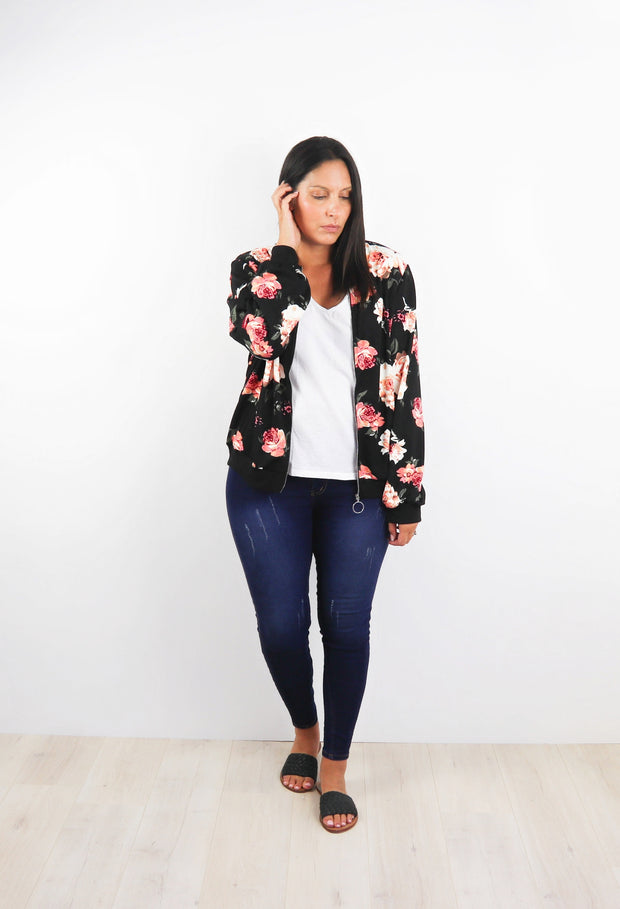 Scarlett Floral Zip Up