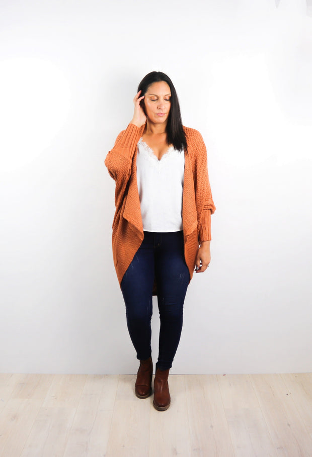 Warm Toffee Colourpop Batwing Cardigan