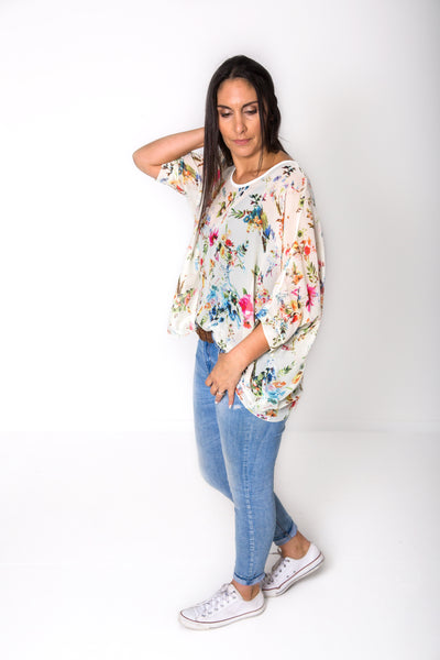 Vintage Floral Draped Tops - Floral Collection