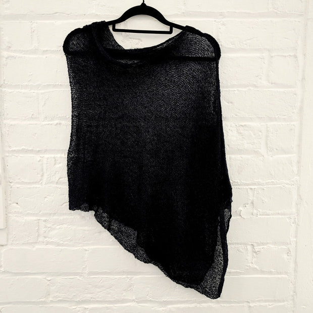 Netted Cameo Poncho - Sell-out Collection