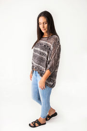 Snakeskin Draped Top - Wild Collection