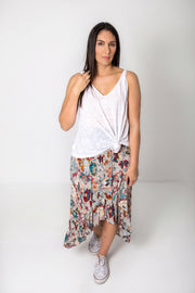 Long Grey Belladonna Francesca Skirt