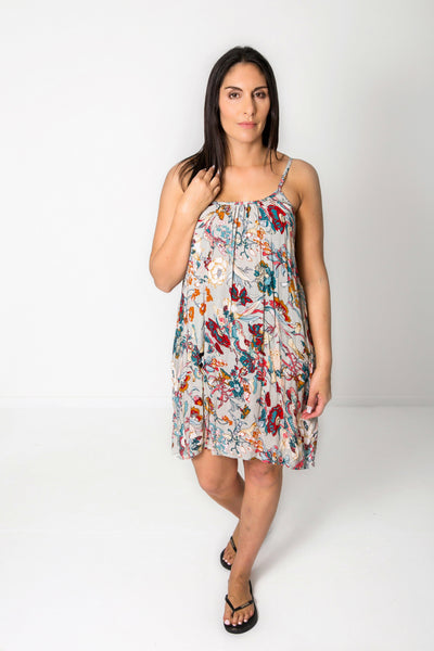 Short Shift Dress - Grey Belladonna