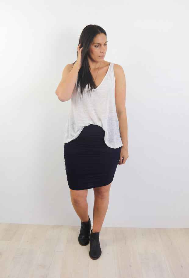 Dark Grey Rouched Skirt