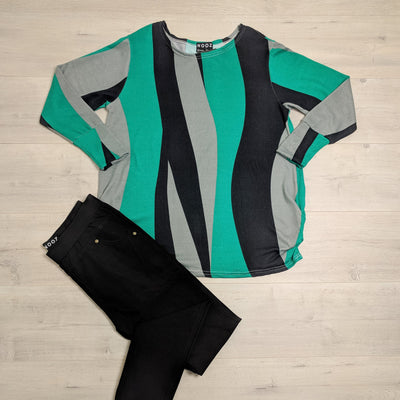 Green & Black Squiggle Acrylic Jersey