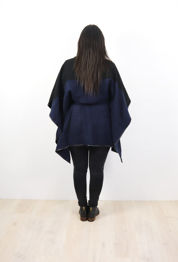 Navy Sydney Wrap Cape