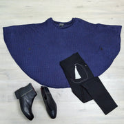 Navy Knit Kimmie Capelet