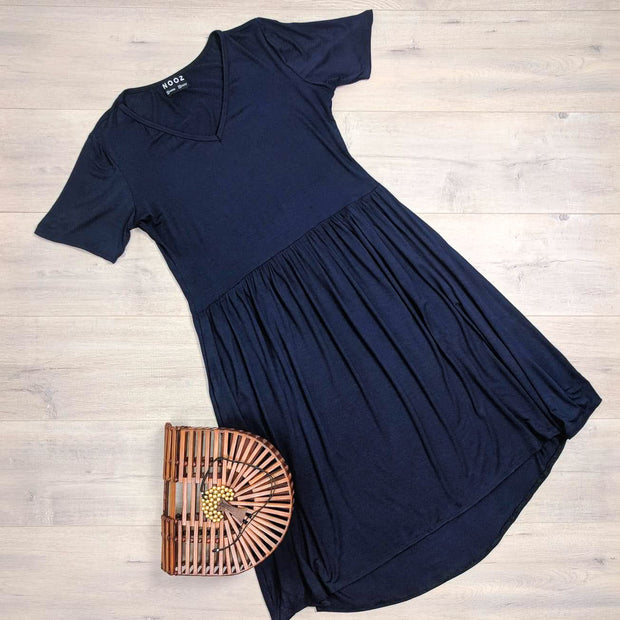 Short Sleeve Maria Babydoll Dress
