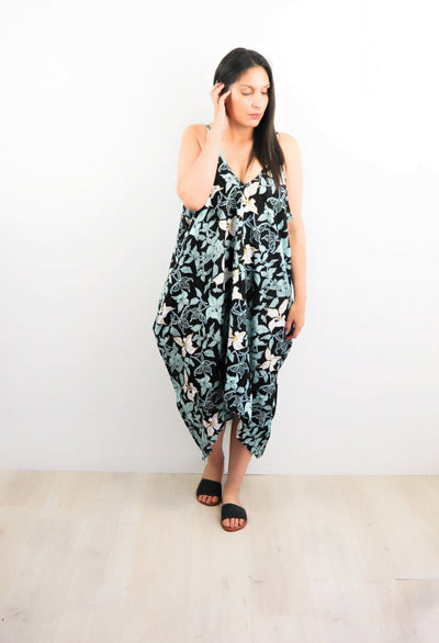 Oversized Pocket Dress - Fawn Lily