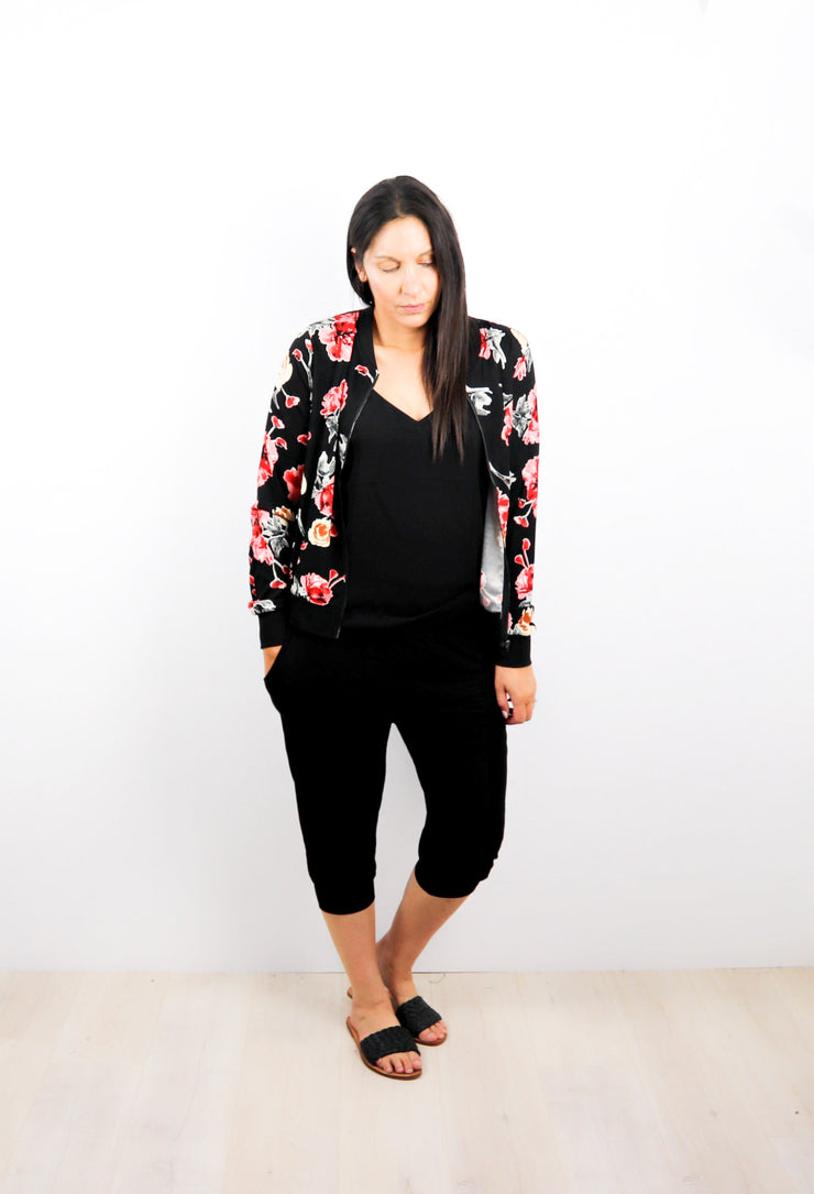Bright Floral Freya Zip Up