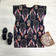 Stretchy Slouchy T-Shirt Dress - Dreamcatcher