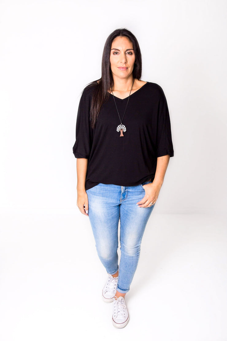PRE-ORDER** Black Multi-way Top