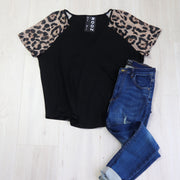 Animal Sleeve Jenna Top