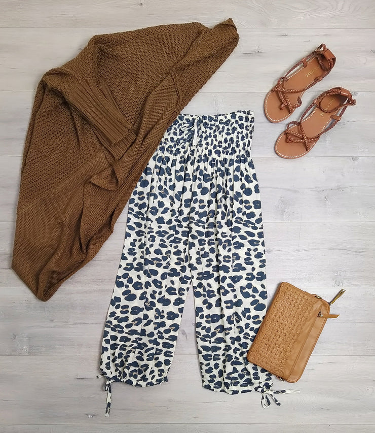 Loose Bali Culottes - Animal Print