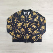 Mustard Floral Corina Zip Up