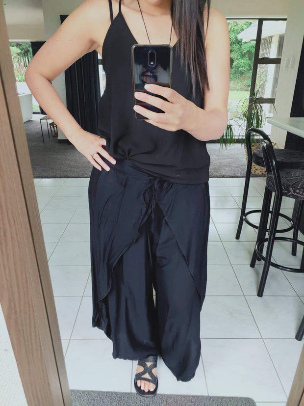 Black Butterfly Palazzo Pants
