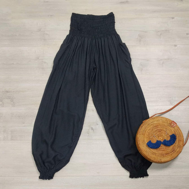 Loose Black Pocket Pants
